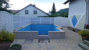 Sichtschutz und Schallschutz am Pool