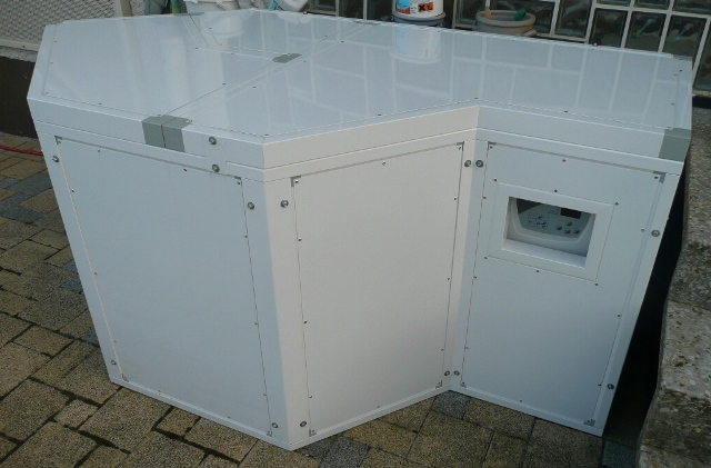 Schallschutzhaube für Wärmepumpe