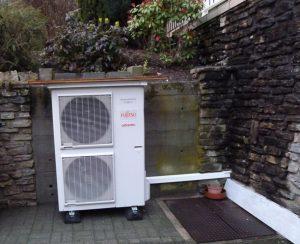ungüstiger Standort der Wärmepumpe wenn Lärm das problem wird