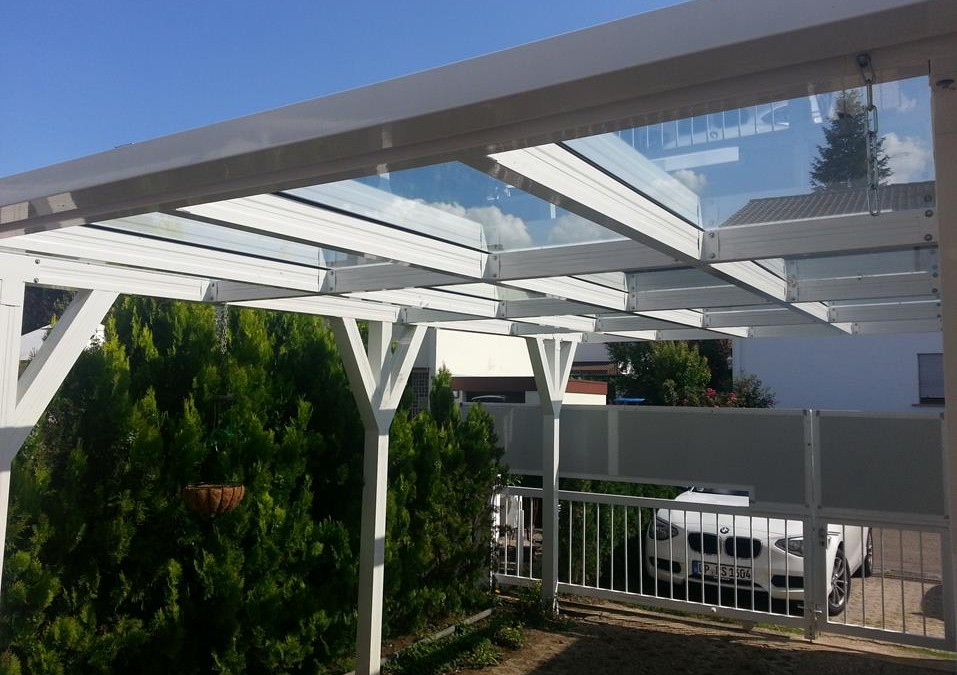 Carport aus Metall