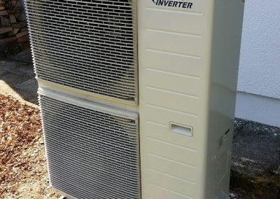 Wärmepumpe ohne Einhausung